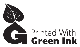 green ink black and white logo