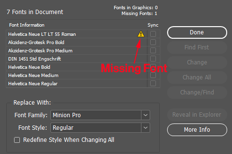 fonts missing
