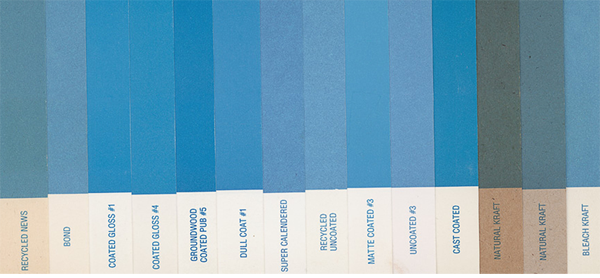 how paper affects color