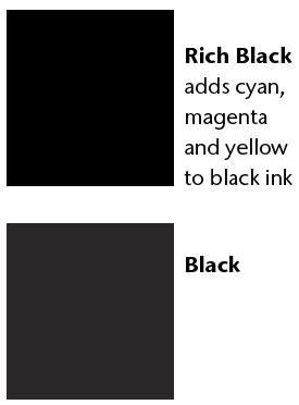 rich black color