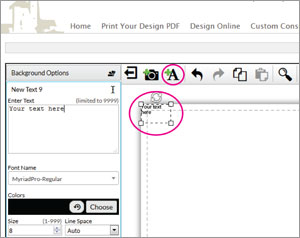 design online add new text boxes