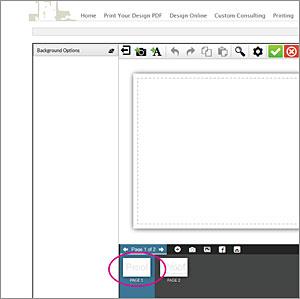 design online page navigation